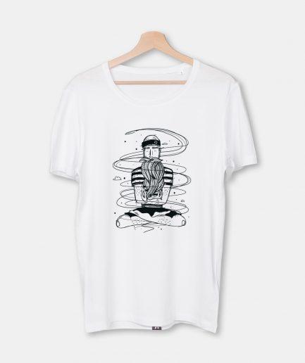 T-Shirt Calm Sailor, Herren, weiß