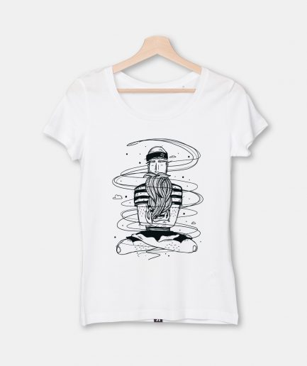 T-Shirt Calm Sailor, Damen, weiß