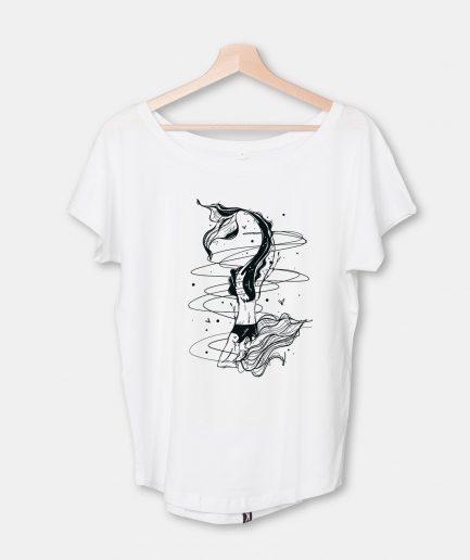 """T-Shirt Focused Mermaid, Damen, """"Loose Fit"""""""
